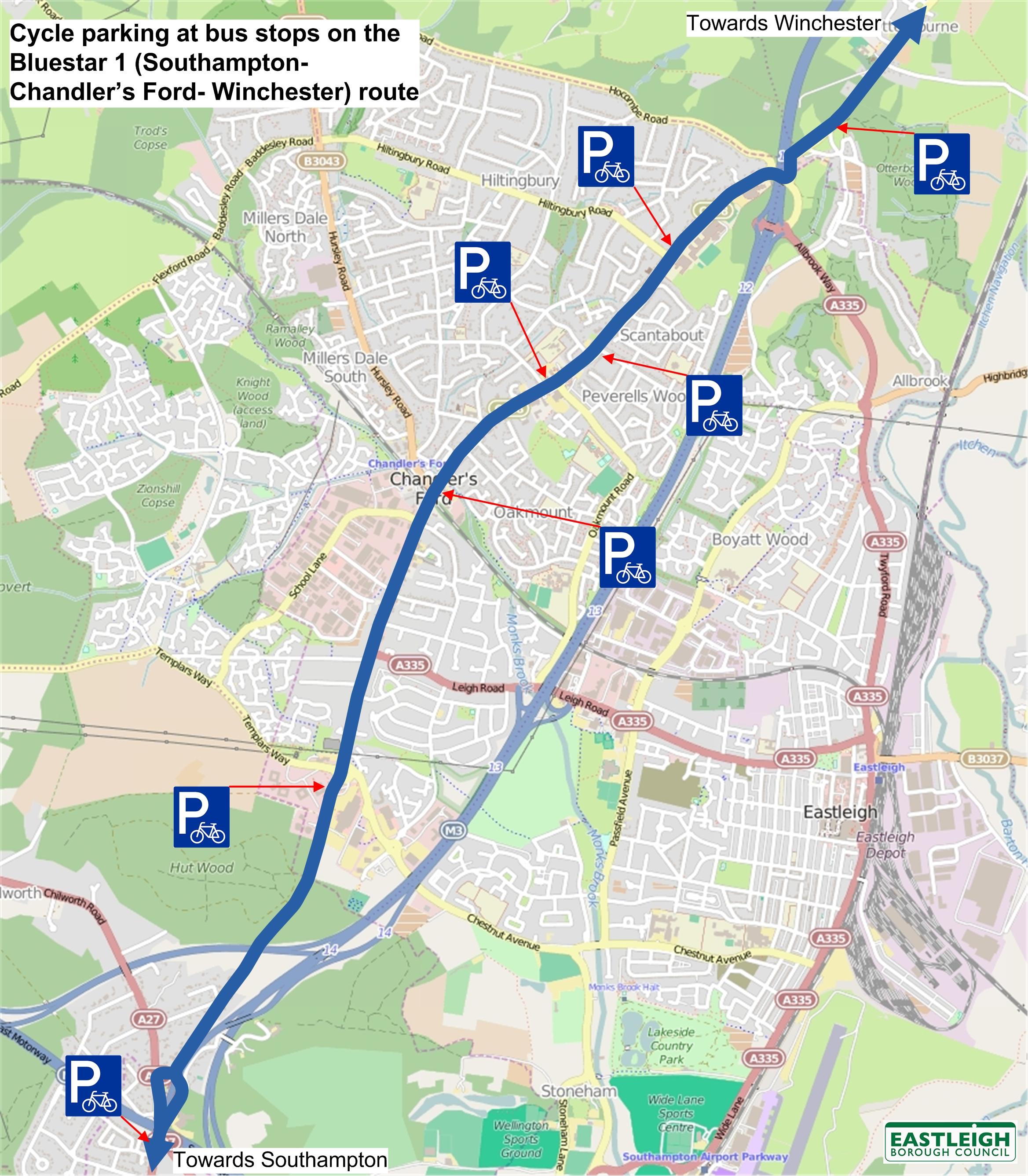 Bus services Eastleigh Borough Council